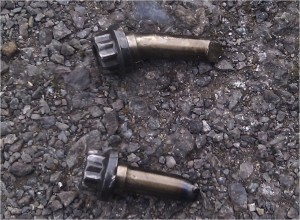 Pair of Broken / Snapped Big End Bolts